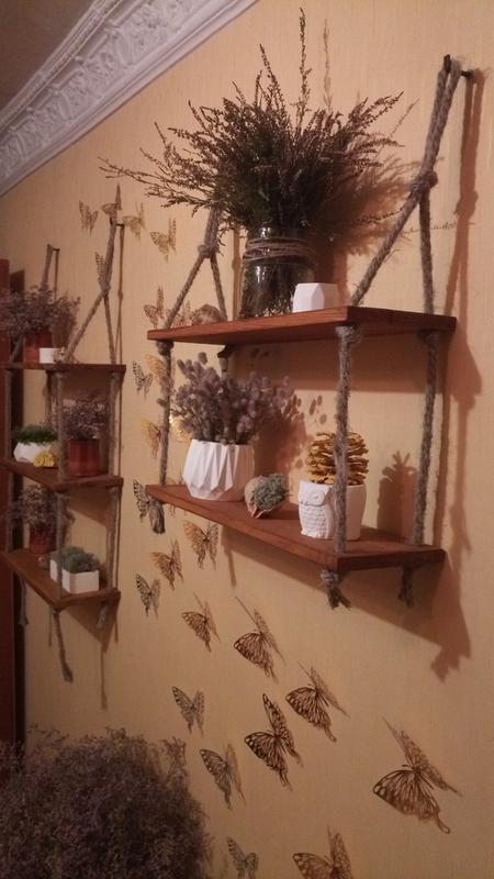 """Полка настенная, натуральное дерево (сосна), """"loft"""""""