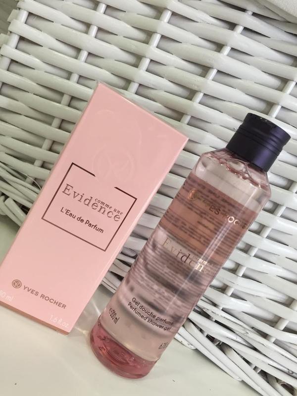 Подарочный набор парфюм и гель душа evidence эвиденс yves rocher