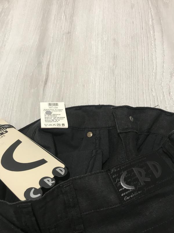 Чёрные мужские  брюки cardellino jeans 051 (29) - Фото 2