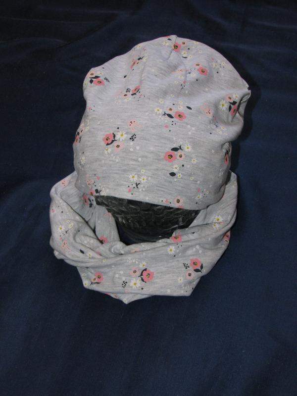 Комплект шапка и снуд h&m для девочки - Фото 3