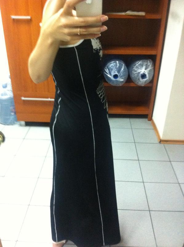 Черное платье-сарафан - Фото 2
