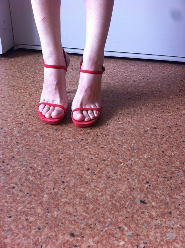 Босоножки кожаные  zara - Фото 5