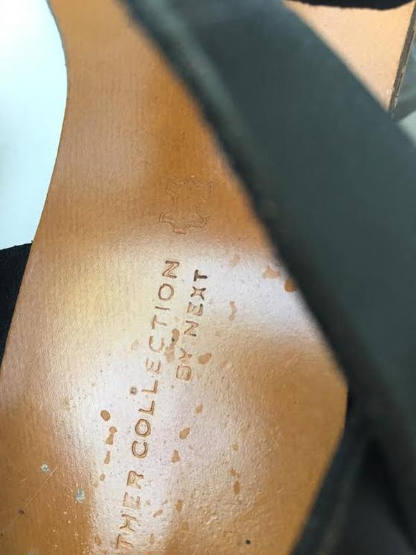Кожаные черные босоножки сандалии next - Фото 5