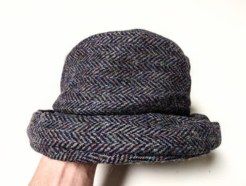 James peter x harris tweed шерстяная твидовая шляпа шляпка анг...