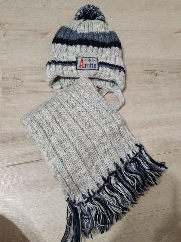 Комплект шапка зимняя arctic и шарф 5
