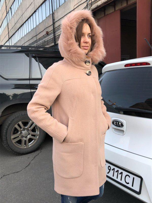 Зимнее пальто-парка шерстяное с натуральным мехом на утеплителе - Фото 3
