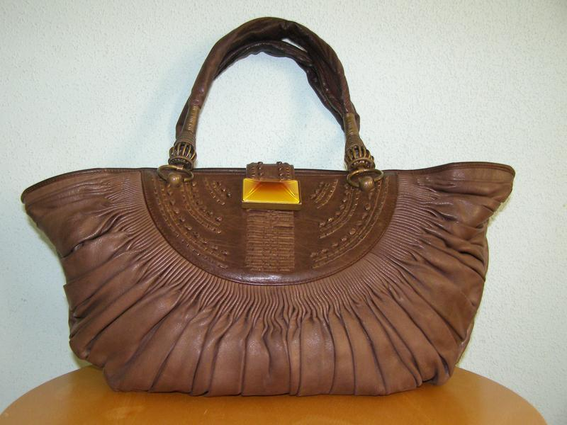 Кожаная сумка christian dior made in italy номерная