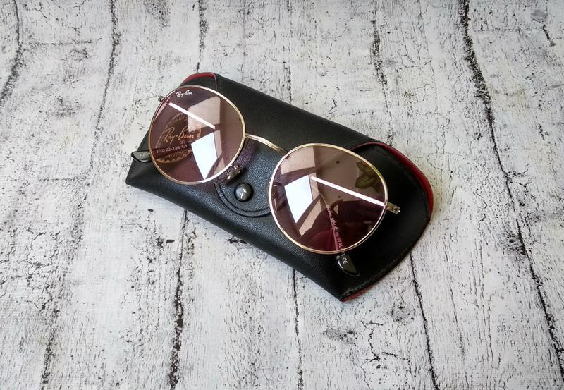 Стильные очки ray ban rb 3448  c1 + чехол в комплекте