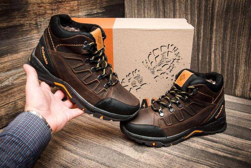 Мужские Зимние Кожаные Ботинки Columbia - Фото 5