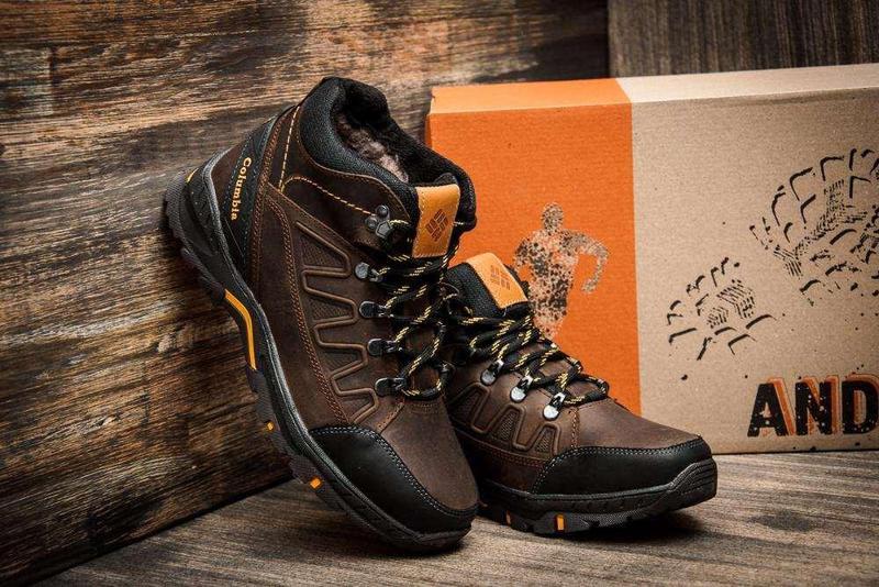 Мужские Зимние Кожаные Ботинки Columbia - Фото 4