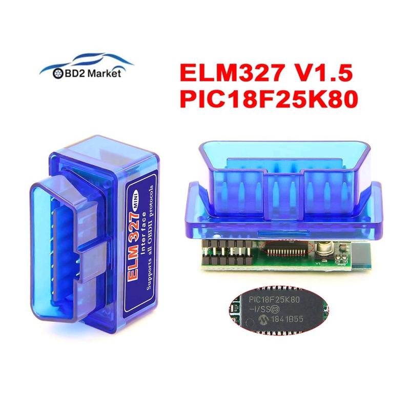 Диагностический адаптер ELM327 v1.5 Bluetooth PIC18F458