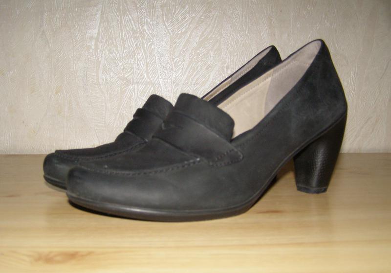 Удобные фирменные туфельки ecco, 40р, индонезия+практичный каблук
