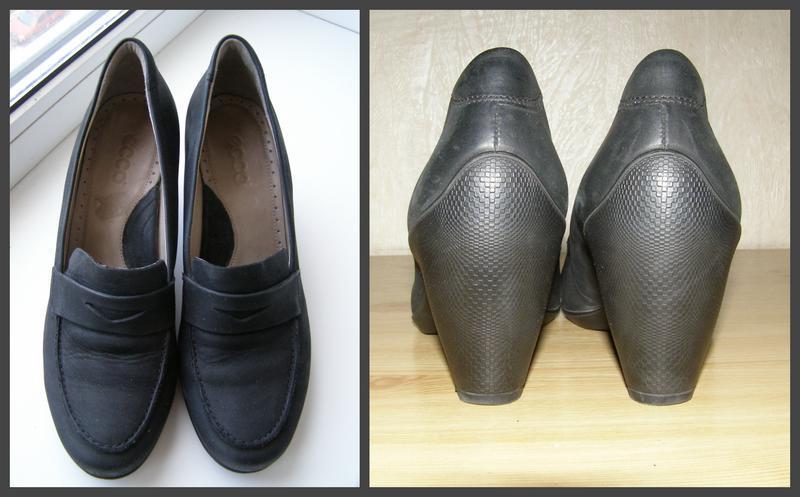 Удобные фирменные туфельки ecco, 40р, индонезия+практичный каблук - Фото 2