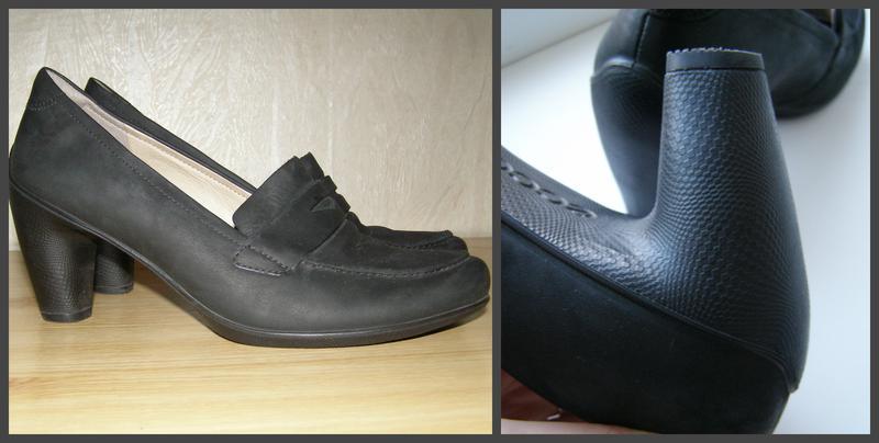 Удобные фирменные туфельки ecco, 40р, индонезия+практичный каблук - Фото 3