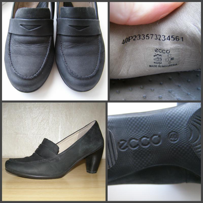 Удобные фирменные туфельки ecco, 40р, индонезия+практичный каблук - Фото 4