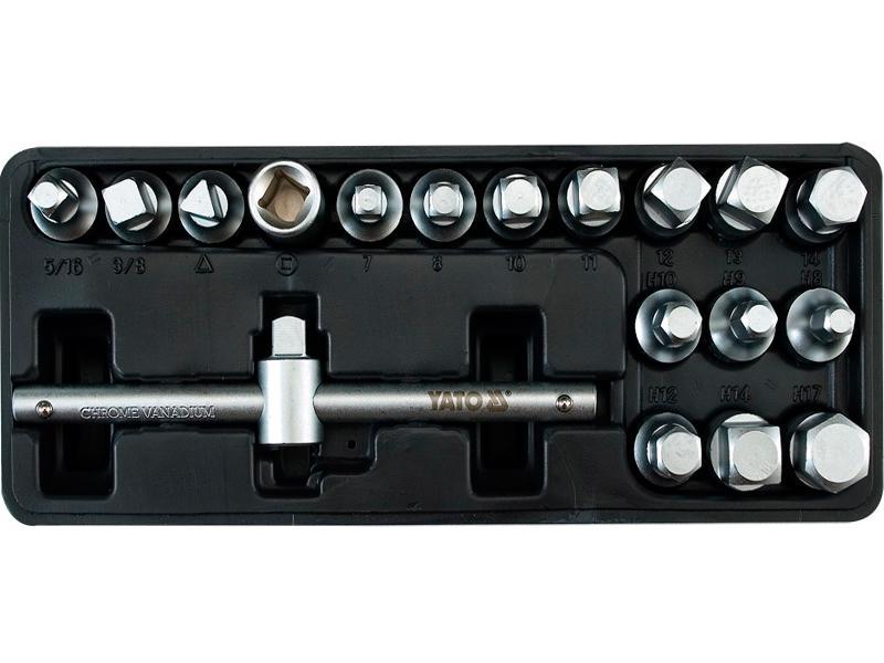 Комплект насадок для сливной пробки Yato YT-0599