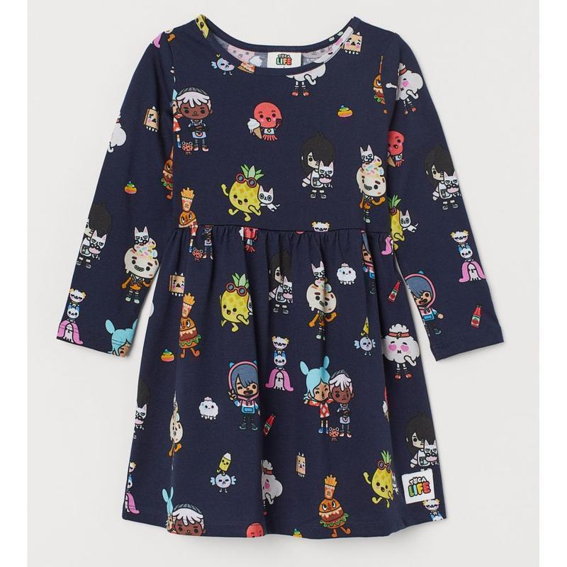 H&m детское платье с длинным рукавом на 6-8 лет