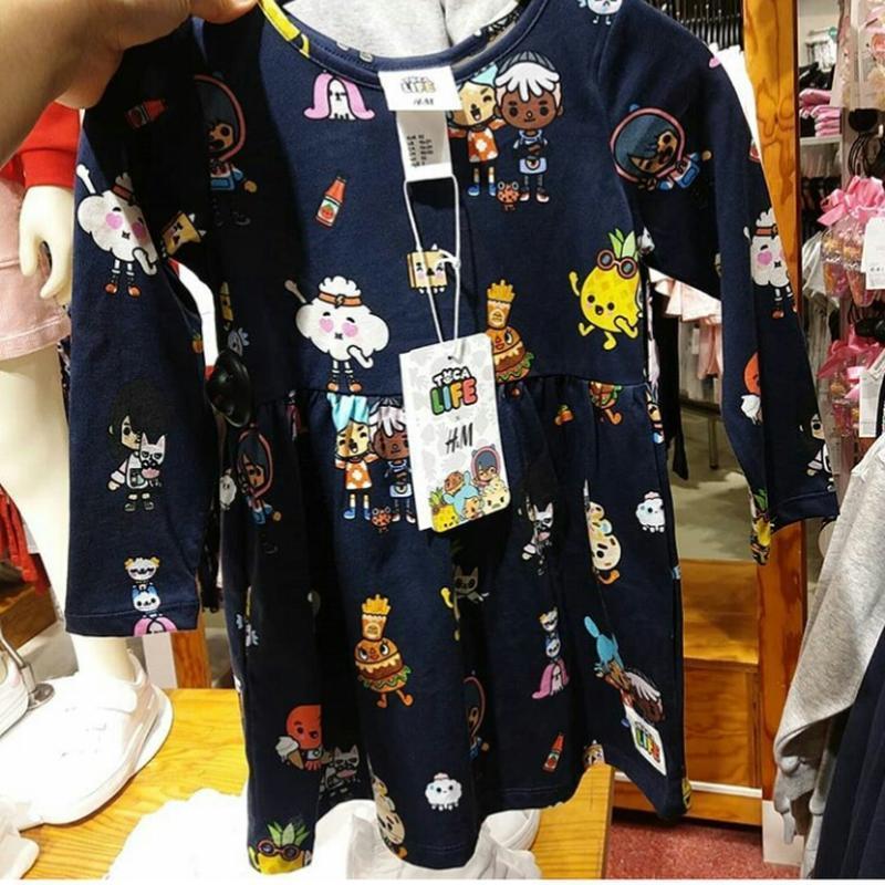 H&m детское платье с длинным рукавом на 6-8 лет - Фото 2
