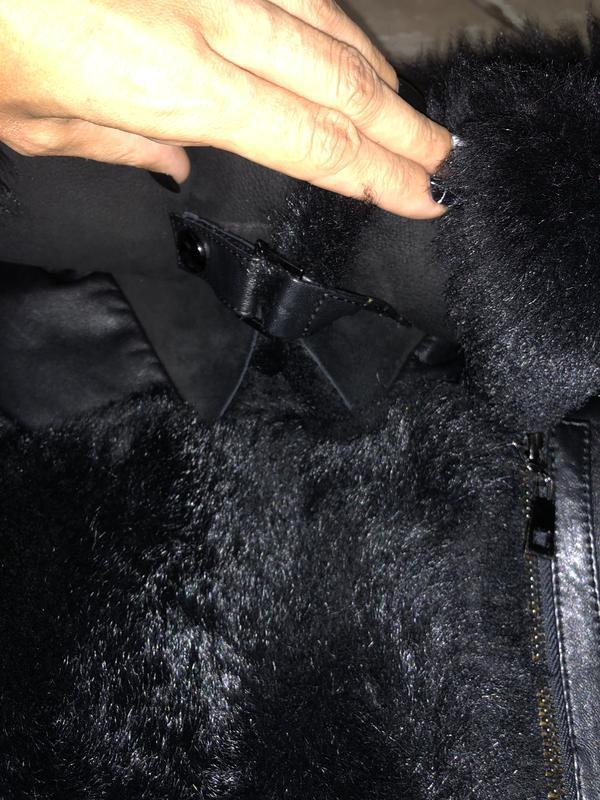 Кожаная куртка пуховик - Фото 9