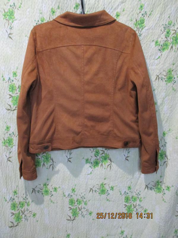 Стильная куртка/жакет под замш - Фото 3