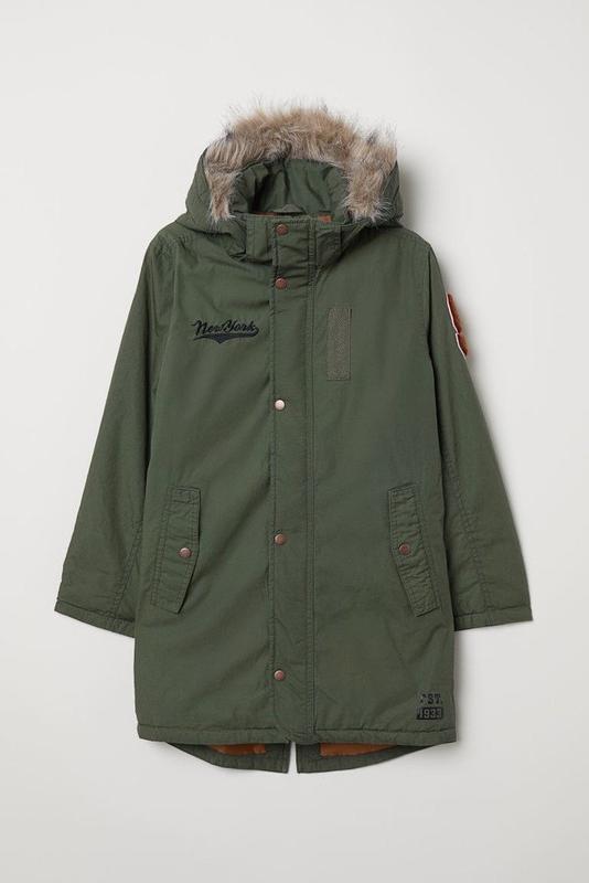Стильная удлиненная куртка на мальчика h&m демисезон