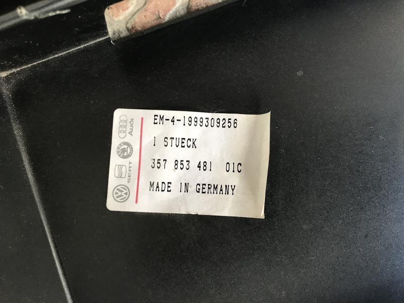 Рамка под номер VW Passat B3 357 853 481 01С - Фото 3