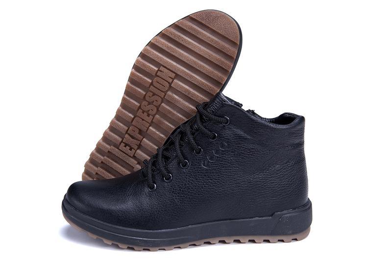 Мужские зимние кожаные ботинки на натуральном меху ecco - Фото 10