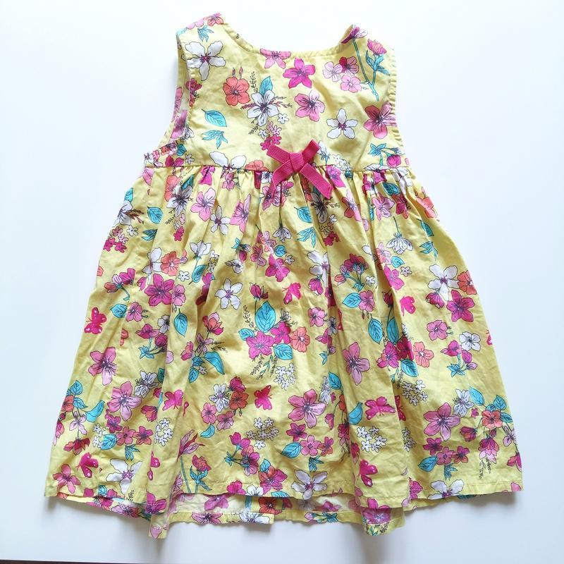 Одежда на девочку 12-18мес 80-86см комплект набор платье сараф... - Фото 2