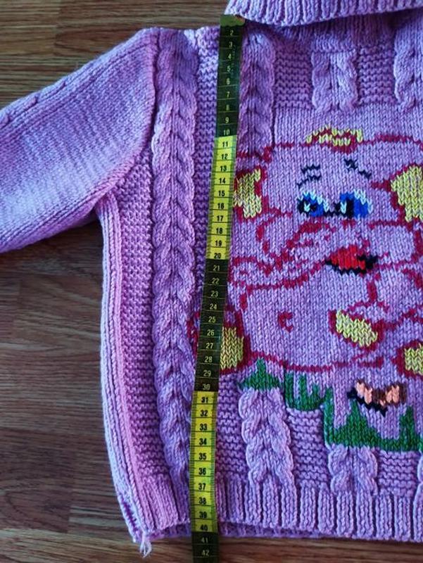 Вязаный свитер на девочку - Фото 2