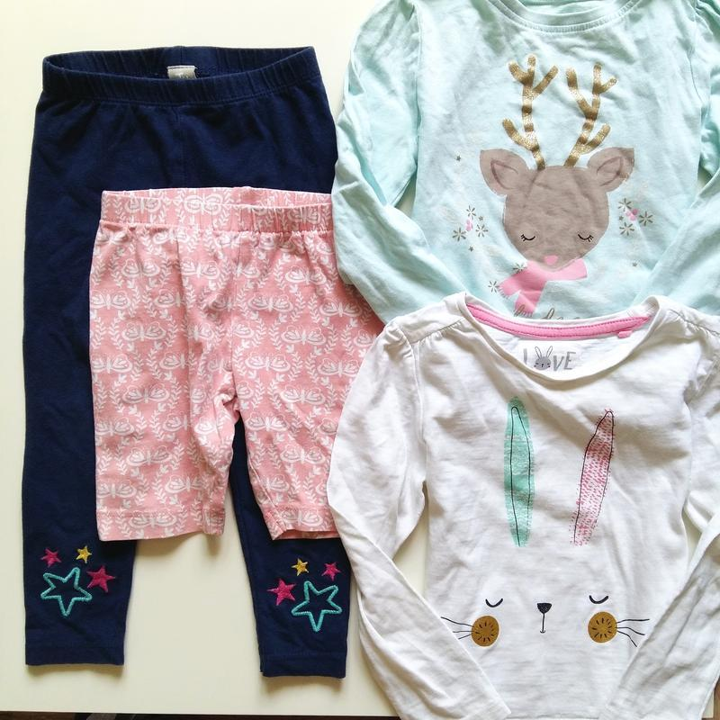 Одежда на девочку 2-3года года 92-98см комплект набор лосины ш...
