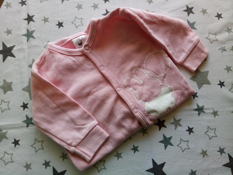 Розовый человечек на малышку с зайчиком - Фото 2