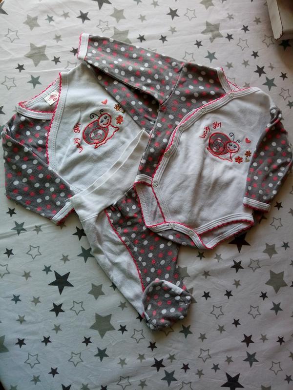 Набор на малыша с улиточкой 1-3 месяца