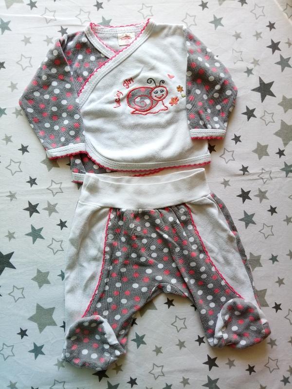 Набор на малыша с улиточкой 1-3 месяца - Фото 2
