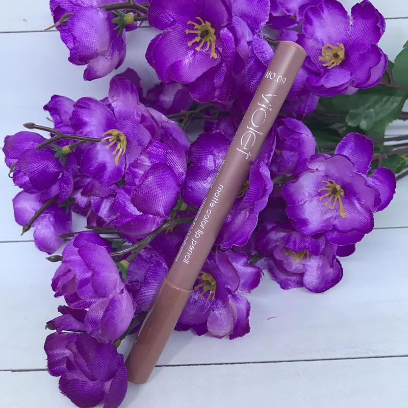 Карандаш для губ violet matte color lip pensil 09 - Фото 2