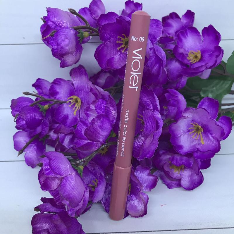 Карандаш для губ violet matte color lip pensil 06 - Фото 2