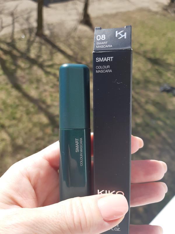 Smart colour mascara kiko milano зеленая тушь с эффектом панор... - Фото 2