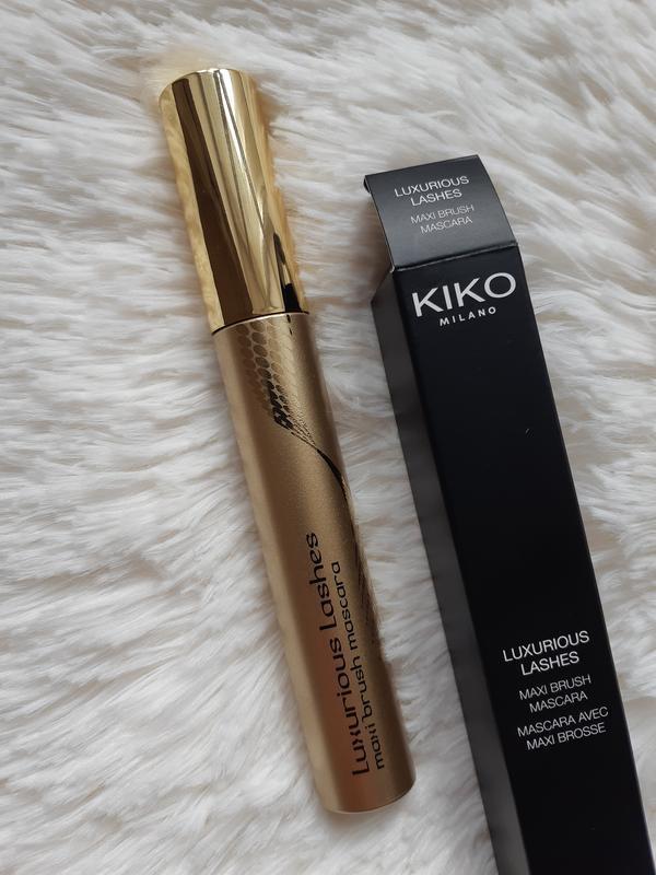 Luxurious lashes maxi brush mascara kiko milano , тушь, преобр... - Фото 2