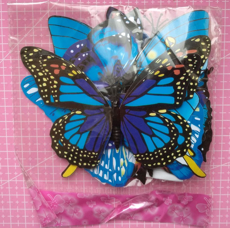 Бабочки для декора метелики бабочка на магните пластиковая