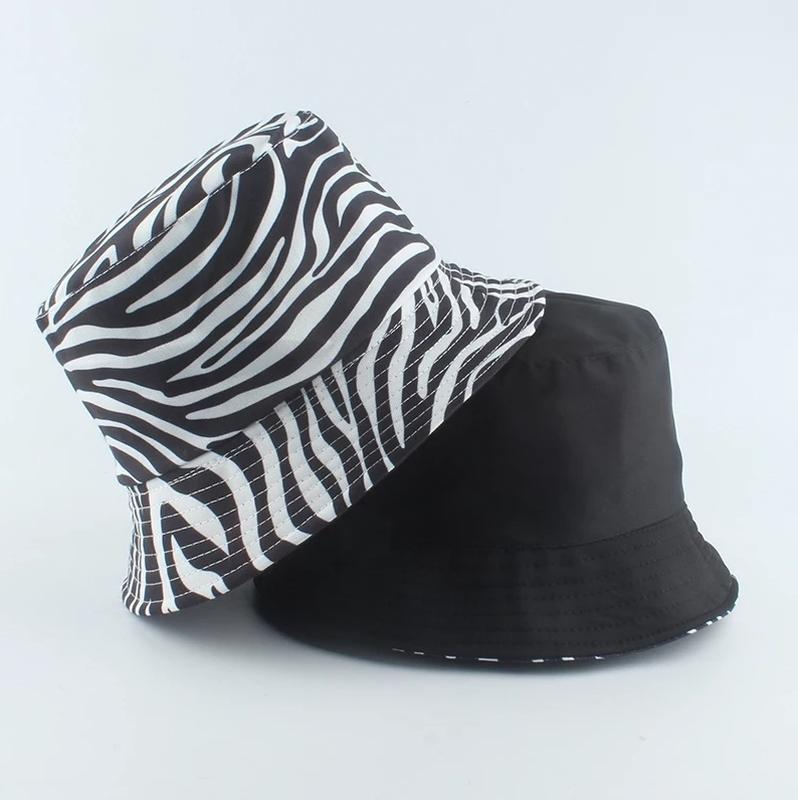 Панама двухсторонняя зебра, унисекс