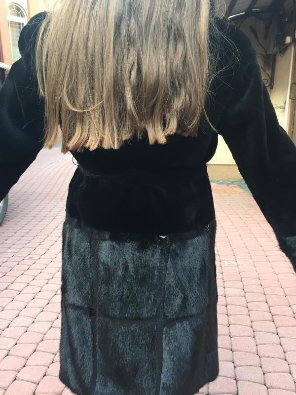 Норковая черная шуба - Фото 3