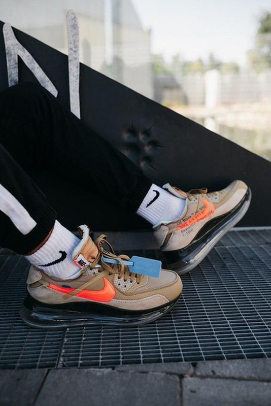 Крутые мужские демисезонные кроссовки найк nike off-white new ... - Фото 7