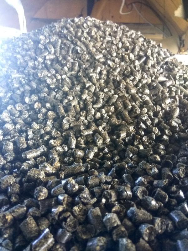 Пеллеты, брикеты из лузги подсолнечника