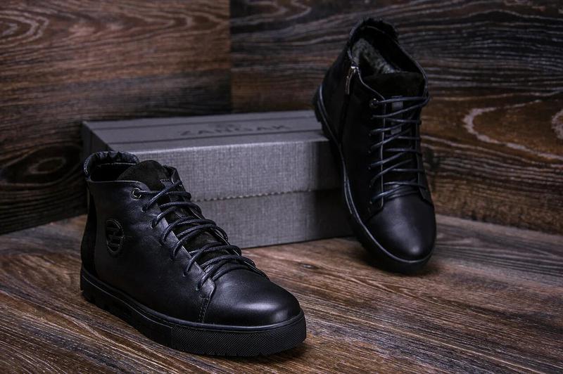 Зимние кожаные ботинки на натуральном меху Zangak - Фото 4