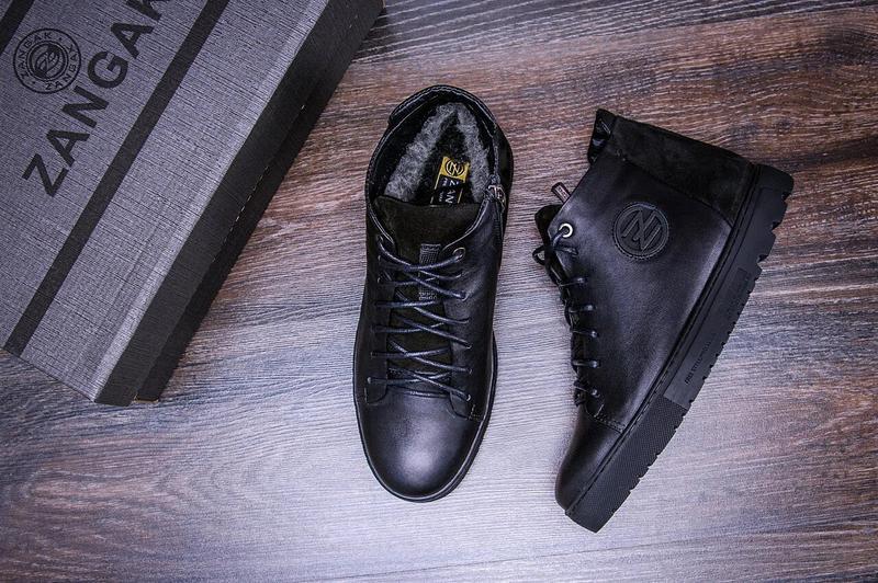 Зимние кожаные ботинки на натуральном меху Zangak - Фото 3