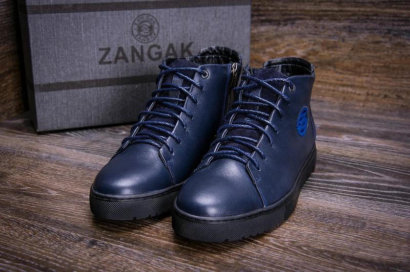 Зимние Кожаные Ботинки На Натуральном Меху Zangak