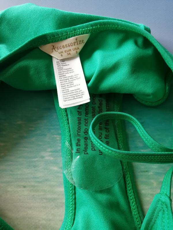 Бирюзовые плавки на завязках - Фото 2