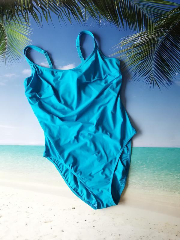 Голубой сдельный купальник 85ф