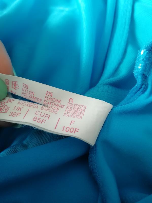 Голубой сдельный купальник 85ф - Фото 3