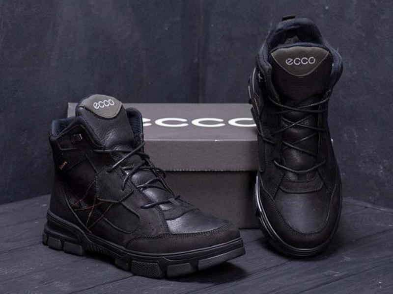 Зимние Кожаные Ботинки На Натуральном Меху Ecco - Фото 2