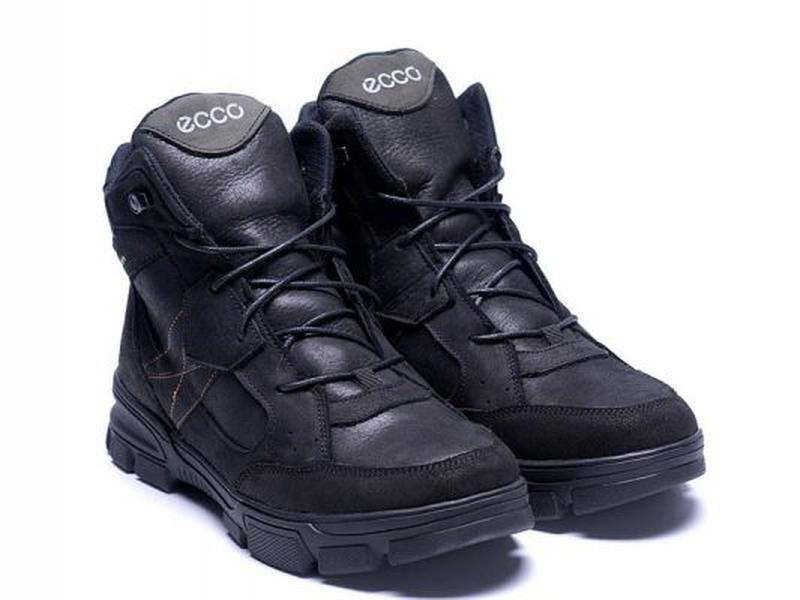 Зимние Кожаные Ботинки На Натуральном Меху Ecco - Фото 10